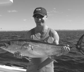 Tuna are a possibility in August off Noosa. This 10kg specimen was caught wide of North Reef in late June aboard charter boat Trekka.